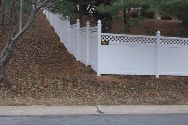 Custom Stepped PVC Fence