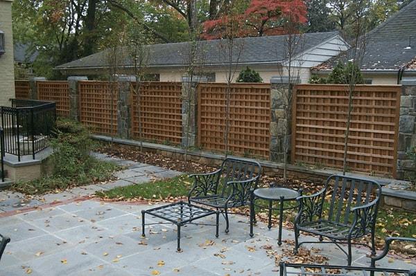 Custom Western Red Cedar Lattice Fence